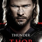 Cartel personaje THOR (Chris Hemsworth)