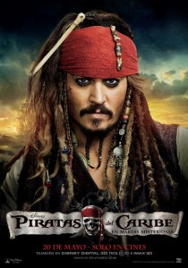 CARTEL JACK SPARROW - PIRATAS DEL CARIBE 4