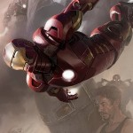 Cartel LOS VENGADORES: Robert Downey Jr. como IRON MAN