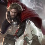 Cartel LOS VENGADORES: Chris Hemsworth como Thor