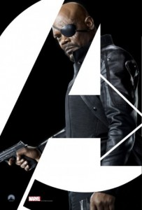 Cartel promocional NICK FURY / Director de SHIELD (LOS VENGADORES 2012)