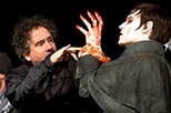 Foto rodaje Dark Shadows con Johnny Depp y Tim Burton