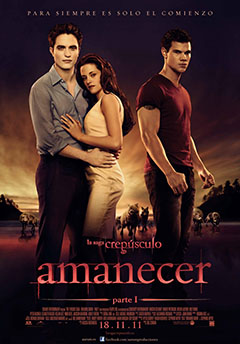 Cartel La Saga Crepsculo: Amanecer (Parte 1)