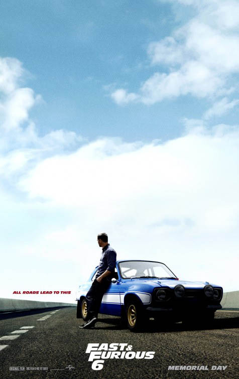 Cartel personaje Brian O'Conner en Fast and Furious 6 (A todo gas 6)