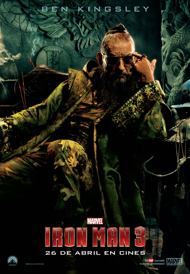 Cartel Ben Kingsley en Iron Man 3 de The Mandarin
