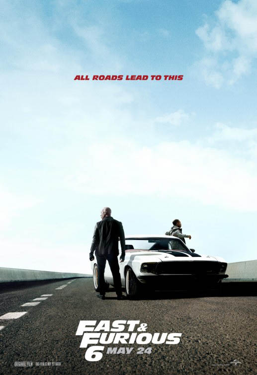 Cartel promocional Fast and Furious 6 (A todo gas 6) 2