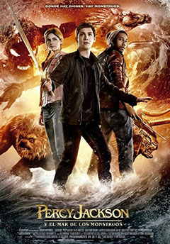 Cartel Percy Jackson y el mar de los monstruos