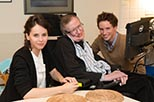 Foto Stephen Hawking en The theory of everything