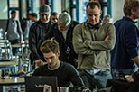 Foto rodaje Andrew Garfield y Mark Webb  The Amazing Spider-Man 2: El poder de electro